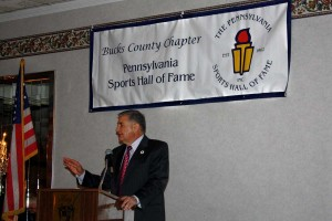 Bucks County Sports HOF President John Chaump